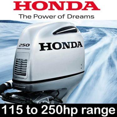 Honda 115hp - 250hp Outboard Range